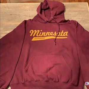 Champion Minnesota Gophers Pullover Hoodie - M